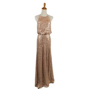 DONNA MORGAN/ Rose Gold Sequin Dress Size 2